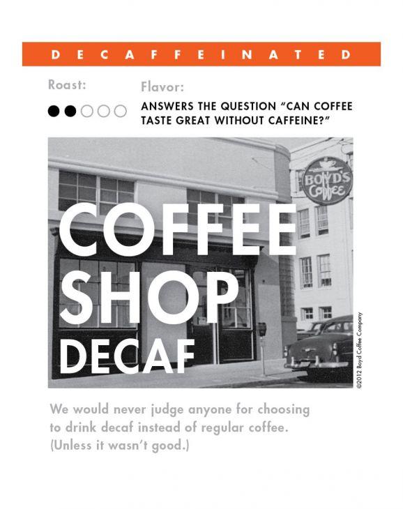 COFFEE SHOP DECAF WHOLE BEAN COFFEE: 6 LB main image