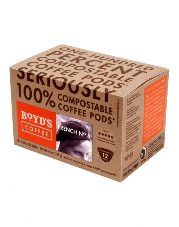 FRENCH NO. 6 COFFEE: 12 CT. COMPOSTABLE SINGLE PODS main image